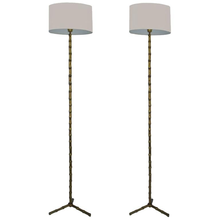 Pair of Maison Baguès Floor Lamp