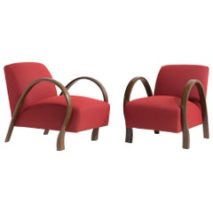 Pair of Bentwood Armchairs, Italy, circa 1930