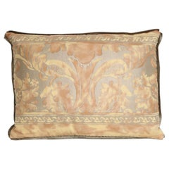 Mitered Fortuny Fabric Lumbar Cushion