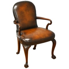 20th Century George III Style Leather Armchair