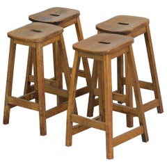 Elm Machinists Stools, circa 1950s