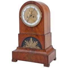 Biedermeier Mantel Clock, Northern Germany Prob. Bremen, circa 1820