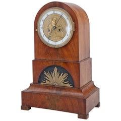 Biedermeier Mantel Clock, Northern Germany Prob. Bremen, circa 1820