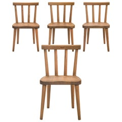Axel-Einar Hjorth, for Nordiska Kompaniet, Set of 4 Uto Solid Pine Chairs