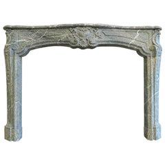 Large Campana Marble 18th Century French Fireplace Mantel