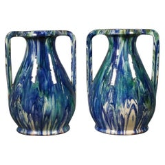 Pair of French Faïence Vases