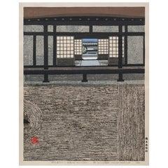 Okiie Hashimoto Japanese Garden Block Print