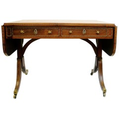 English Rosewood Sofa Table, Attributed to Gillows of Lancaster, circa 1800