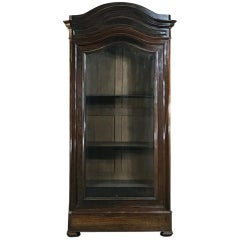 19th Century French Louis Philippe Rosewood Display Armoire, Bookcase