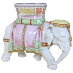 Royal Worcester Porcelain Figure of an Elephant Modelled by James Hadley