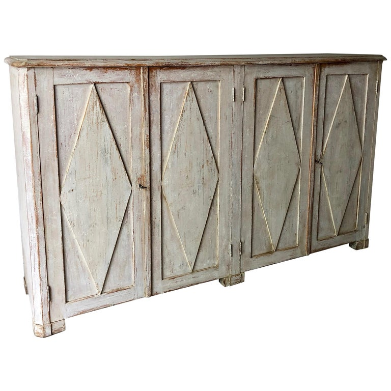 Large Early 19th Century Swedish Gustavian Period Sideboard