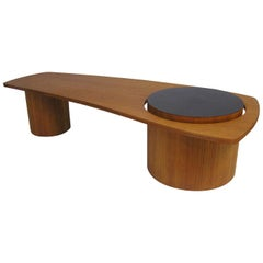 1960s Biomorphic Teak Coffee Table by RS Associates, Canada