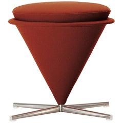 Vitra Cone Stool in Rust Orange by Verner Panton
