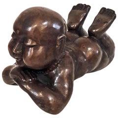 Baby Buddha Bronze Statue