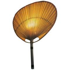 Ingo Maurer Uchiwa Bamboo Fan Sconce, 1970s