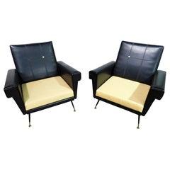 Pair of Vintage Italian Armchairs
