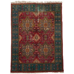 Colorful Tribal Style Turkish Rug