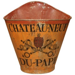 19th Century Chateauneuf Du Pape Grape Harvesting Hotte