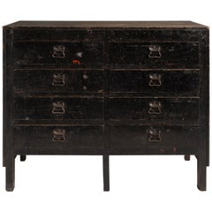 Pine Industrial Chest of Drawers, England, circa 1930