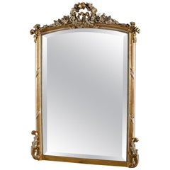19th Century Louis XVI Style Crested Mirror