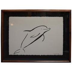 Set of Two Marine Life Brush Art by Wyland