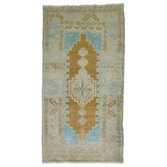 Vintage Turkish Oushak Runner