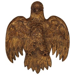 Spanish Carved Giltwood Eagle, 18th Century