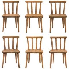 Axel Einar Hjorth, for Nordiska Kompaniet, Set of 6 Solid Pine Utö Chairs