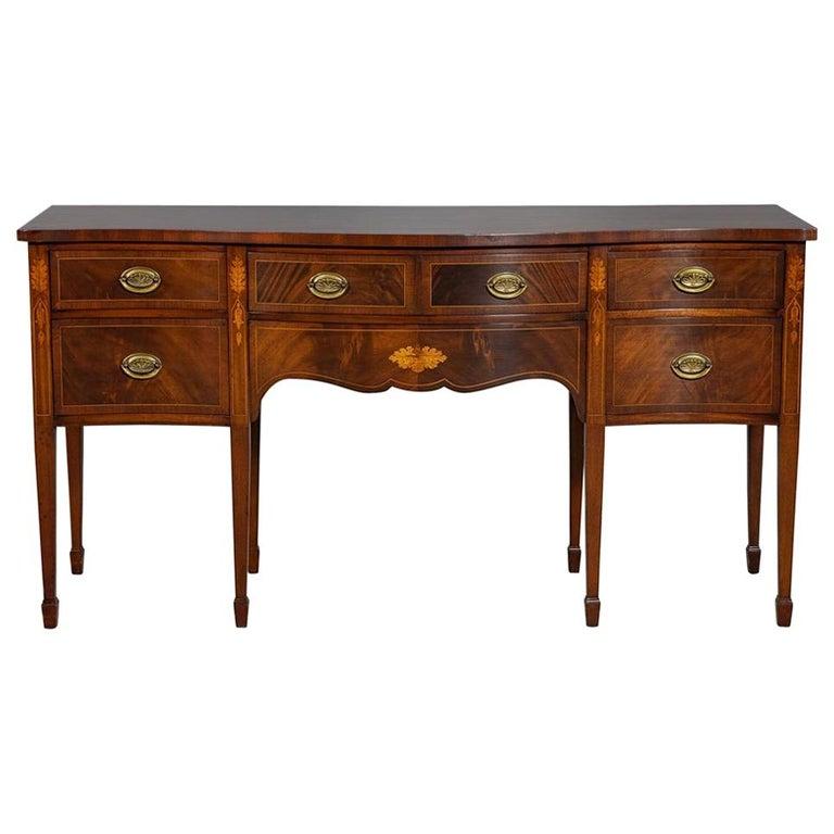 Antique Hepplewhite Style Mahogany Sideboard Buffet