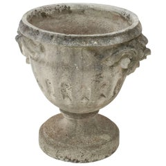 Large English Garden Stone Urn or Planter on Raised Base