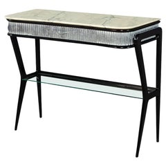 Italian Modern Marble-Top Console Table Attributed to Gio Ponti