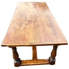 Oak Refectory Table, English, circa 1920