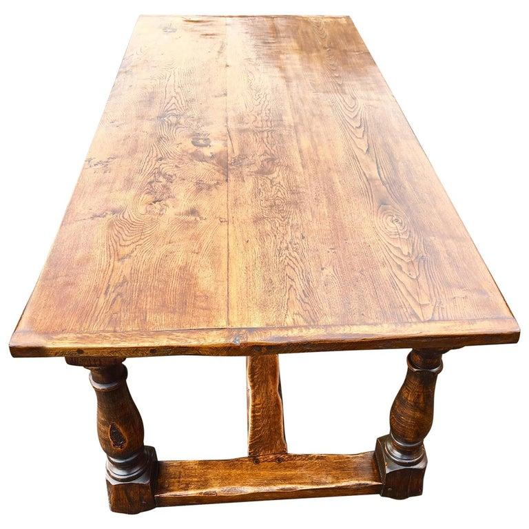 Oak Refectory Table, English, circa 1920