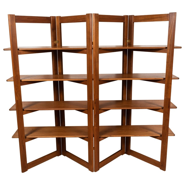 Vintage Danish Teak Bookshelf For Sale