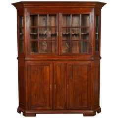 Late 17th Century Danish Baroque Oak Display Cabinet