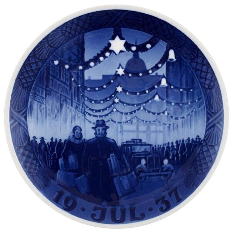 royal copenhagen christmas plate from 1937 for sale - Royal Copenhagen Christmas Plates