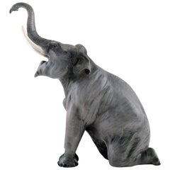 Rare Bing & Grondahl, Porcelain Figure in the Form of an Elephant