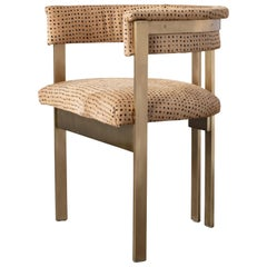 Elliott Chair in Burnished Brass and Dame Straw Hair