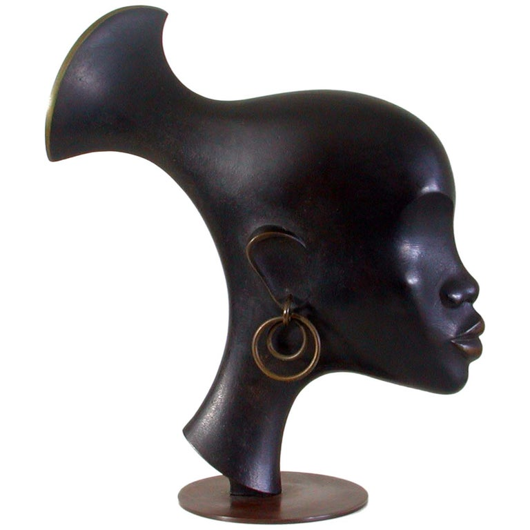 Karl Hagenauer Bronze Sculpture Head of an African Woman, 1930s