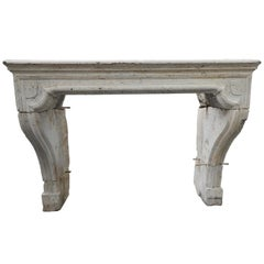 18th Century French Limestone Louis XIV Fireplace