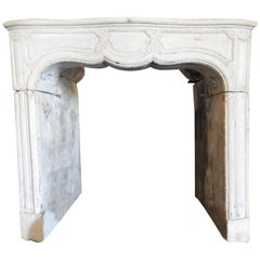 18th Louis XIV Fireplace in French Limestone