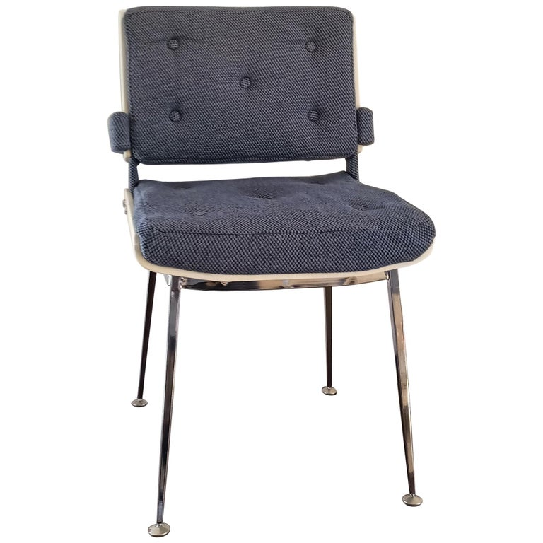 Lacquered Plywood and Chrome Chair by Alain Richard, France, 1960s For Sale