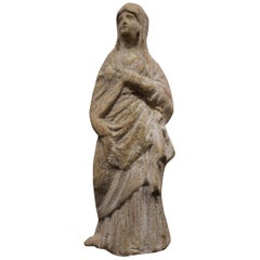 Woman Statuette Wearing a Himation, Roman Art, Hellenistic Period