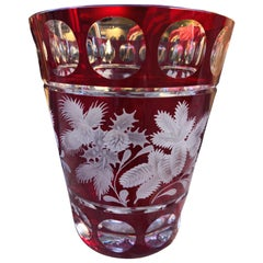 Glass Vase Red Crystal with Christmas Decor Sofina Boutique Kitzbuehel