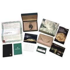 1989 Full Set Rolex GMT Master II Bi Metal Gold Steel Wrist Watch Box Papers Etc
