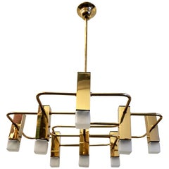 Brass Sciolari Nine Point Lamp