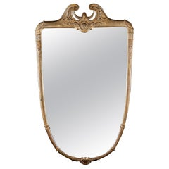 Italian Midcentury Gilt Wood Mirror, 1950
