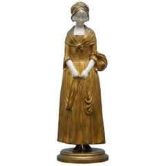 19th Century French Gilt Bronze Dominique Alonzo Statue La Vuelta De Mercado