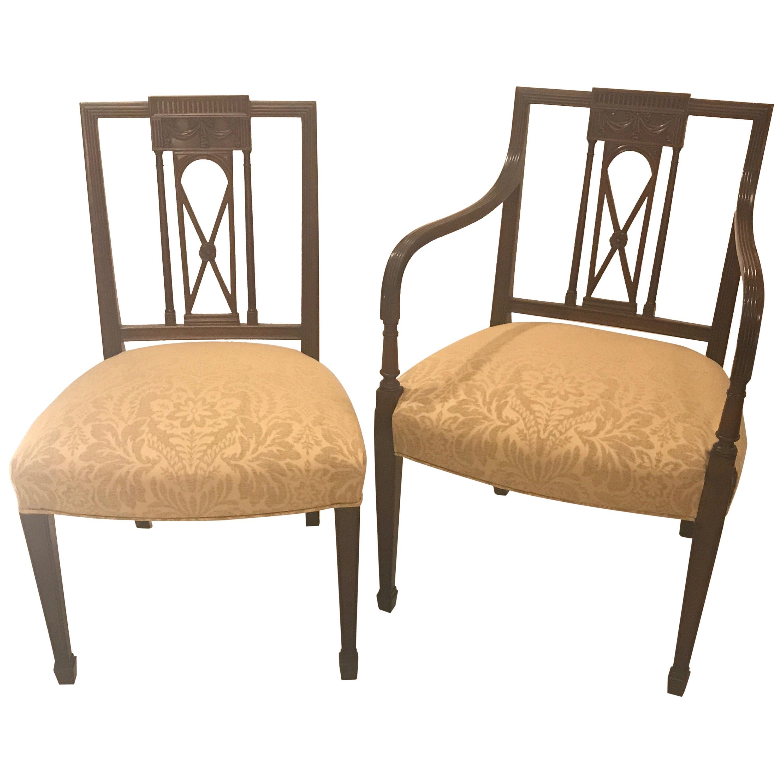 Set Of Six Hepplewhite Dining Chairs