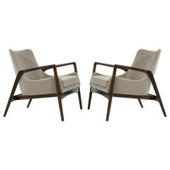 Scandinavian Modern Easy Lounge Chairs by Ib Kofod-Larsen, 1950s